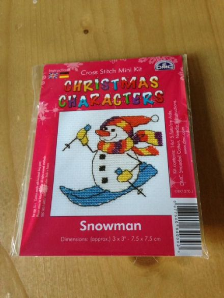 Snowman Christmas Character DMC Mini Kit